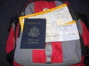 ready to board the plane! one-way-ticket to Italia (January, 2008)