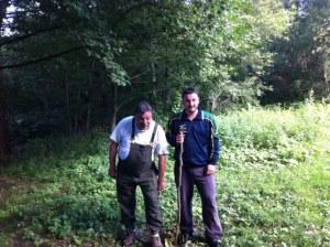 Fabio and his dad, my mushroom guys